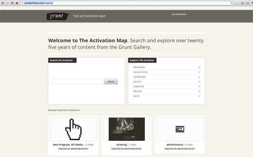 The Activation Map website screenshot