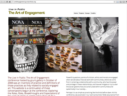 Art of Engagement website screenshot